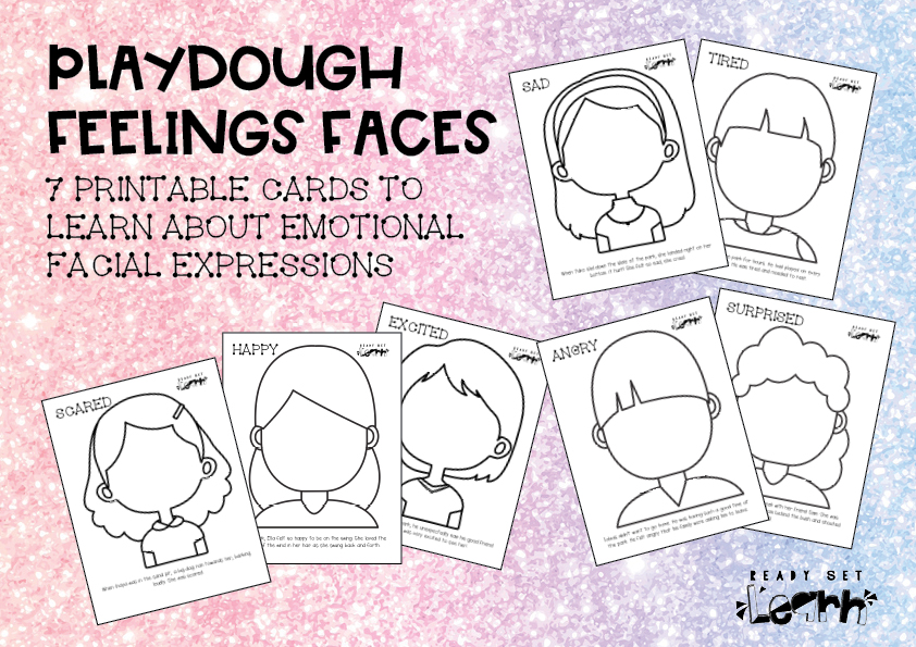 Playdough Feelings Faces